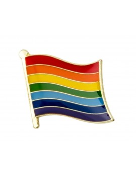 Gay Pride Rainbow Flag Pin Badge