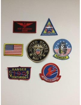 Top Gun Goose Sew On Costume Patches