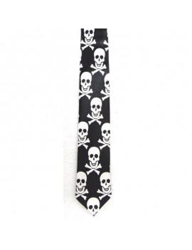 Halloween skull and crossbones mens tie 38851