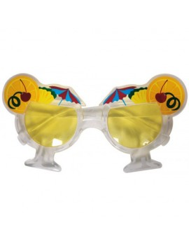 Glasses Hawaiian Beach Umbrellas and fruit novelty sunglasses Folat FO-00797
