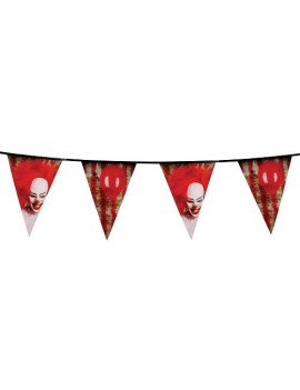 Horror Clown Plastic Bunting