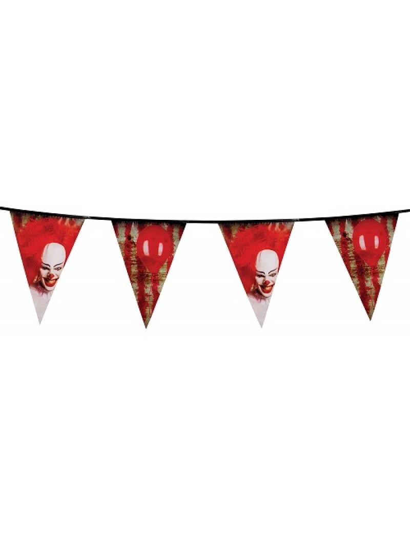 Horror Clown Plastic Bunting