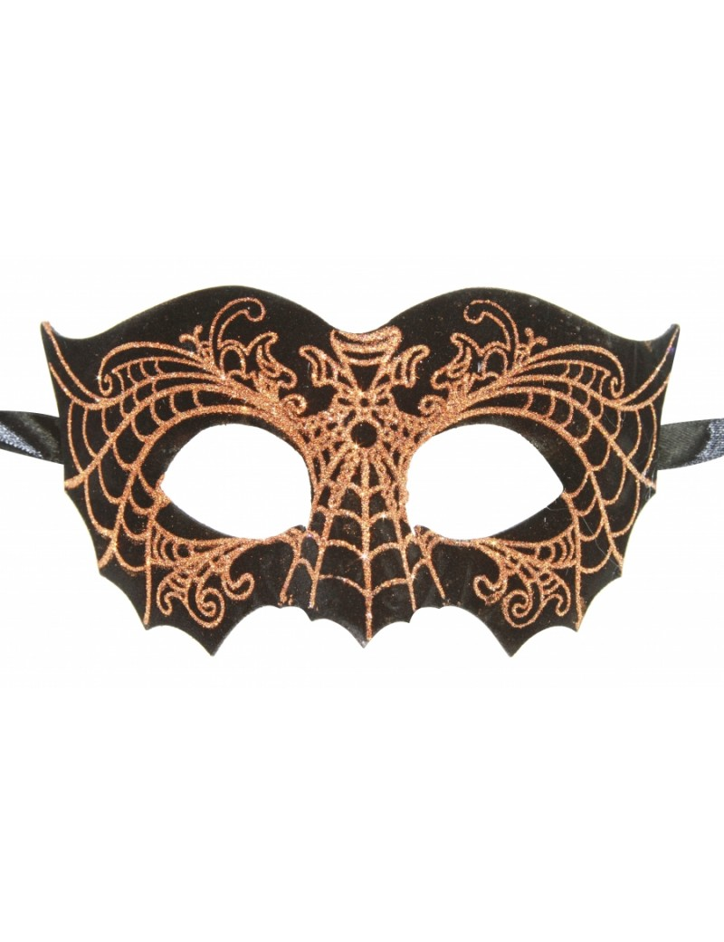 Eyemask Faux Leather Bat Black And Gold Web LTM007GD