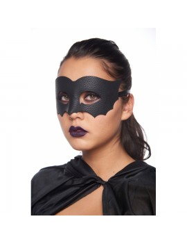 Eyemask Faux Leather Bat Black LTM006