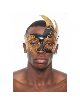 Eyemask Musical Notes 2 Tone Black Gold PM021BK