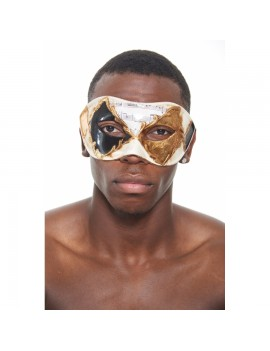 Eyemask Musical Notes 2 Tone Black Gold PM017