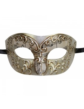 Eyemask Musical Notes Swirl Silver PM033SL