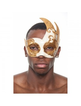 Eyemask Musical Notes 2 Tone Cream and Gold PM021WH