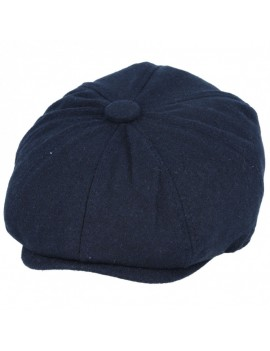 Newsboy 8 Panel Cap Navy Blue