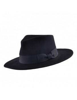 Gladwin Bond Louis Stiff & Snap Brim Trilby Fedora Hat Black FE331BK