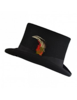 Top Hat Wool Rock Fire Hatters London Black TH401