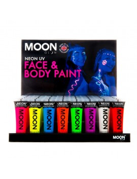 Moon Glow neon UV face and body intense paint Set Of 8 colours M5