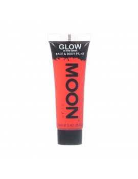 Moon Glow neon UV glow in the dark face and body paint red M55