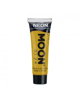 Moon Glow neon UV glitter face and body gel golden yellow M70
