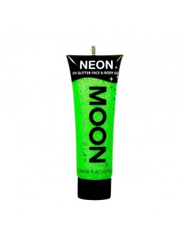 Moon Glow neon UV glitter face and body gel green M70