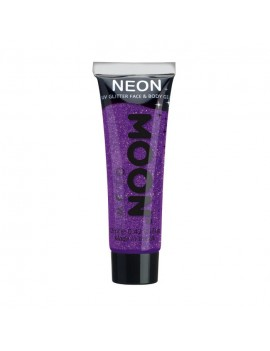 Moon Glow neon UV glitter face and body gel purple M70