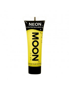 Moon Glow neon UV glitter face and body gel yellow M70