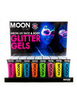 Moon Glow neon UV glitter gels Set of 8 colours
