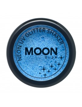 Moon Glow neon UV glitter shakers blue M90