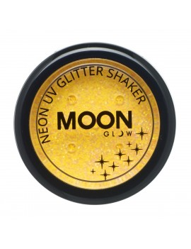 Moon Glow neon UV glitter shakers golden yellow M90