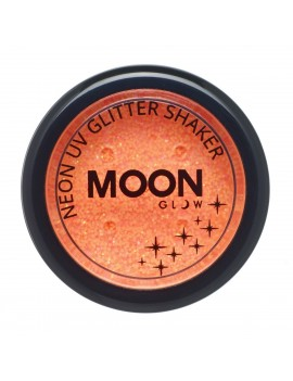 Moon Glow neon UV glitter shakers orange M90