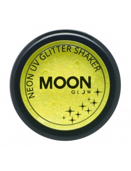 Moon Glow neon UV glitter shakers yellow M90