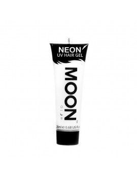 Moon Glow Neon UV hair spike gel white M65