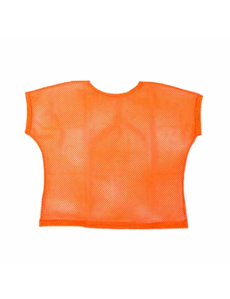 Neon Orange Mesh Top