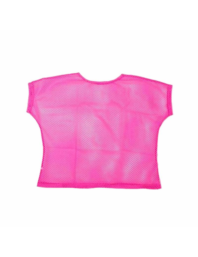 Neon Pink Mesh Top