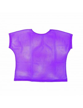 Neon Purple Mesh Top