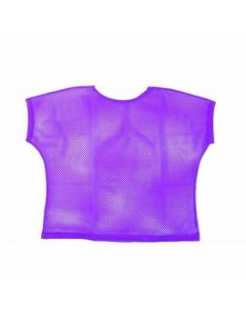 Neon Purple Mesh Top