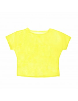 Neon Yellow Mesh Top