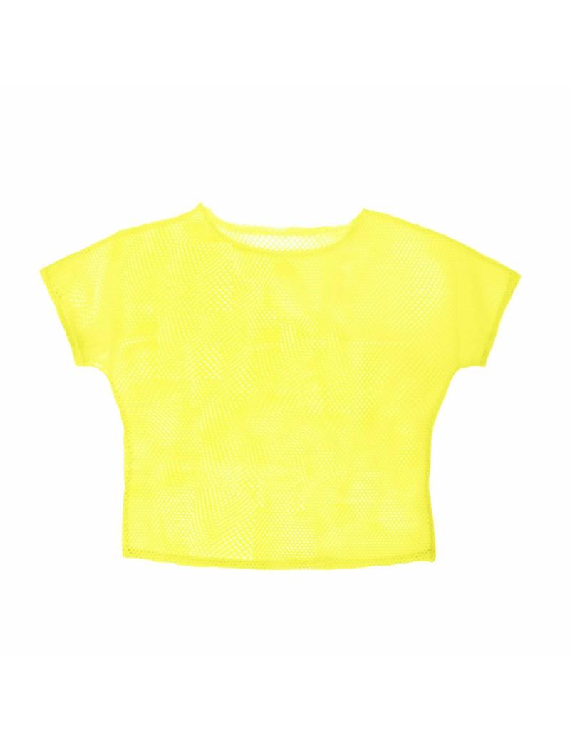 Neon Yellow Mesh Top