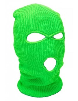 Neon Green 3 Hole Ski Mask