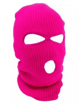 3 Hole Ski Mask Neon Pink