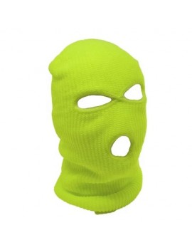 Neon Yellow 3 Hole Ski Mask