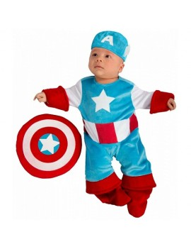 Captain America Newborn Baby Costume