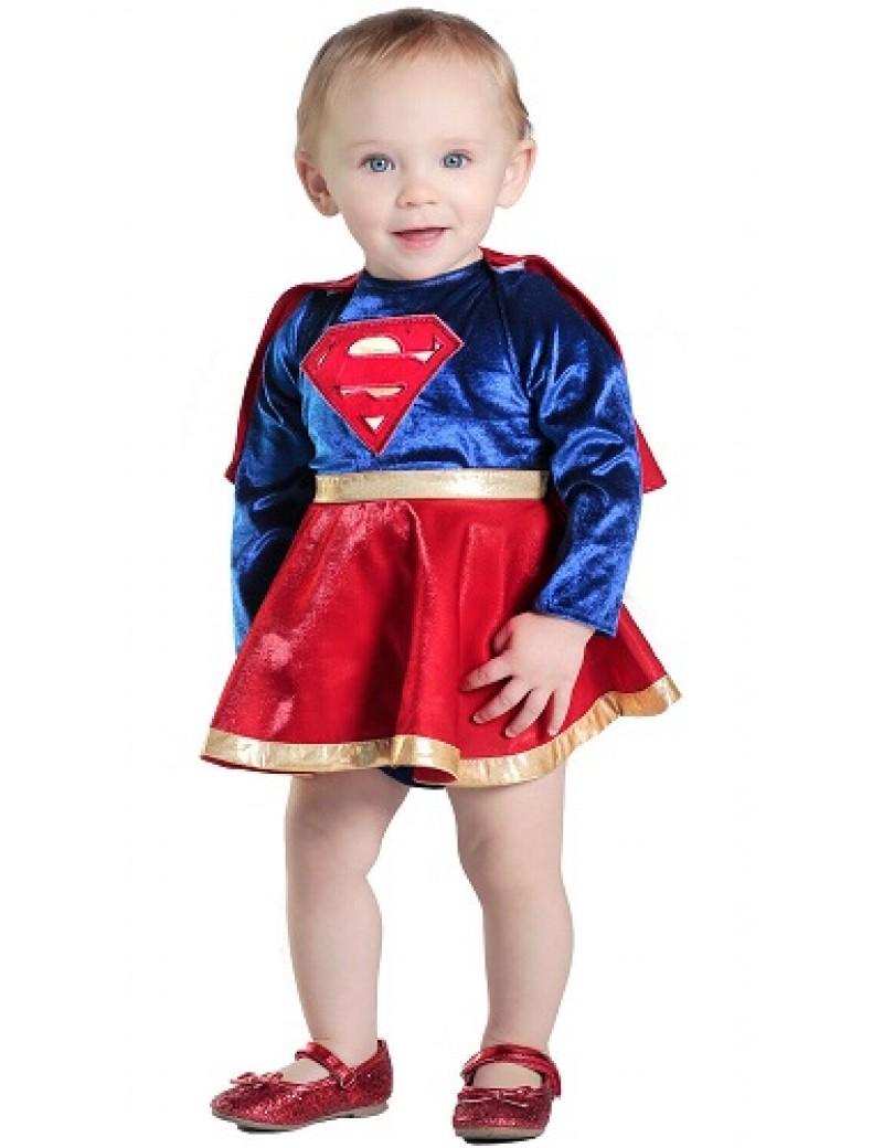 Supergirl Newborn Baby Costume