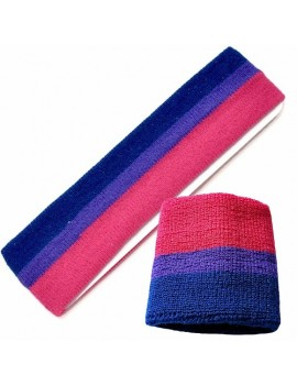 Bi Pride Bisexual Sweat Headband And Wristband Set