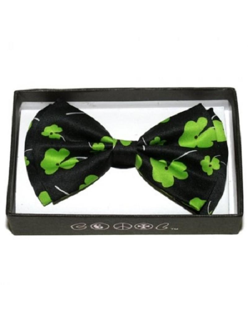 Irish Shamrock Bow Tie