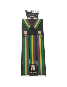 Adult Trouser Braces Mardi Gras Carnival