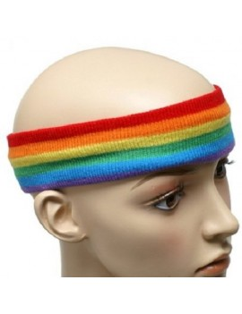 Gay Pride Rainbow Sweat Headband