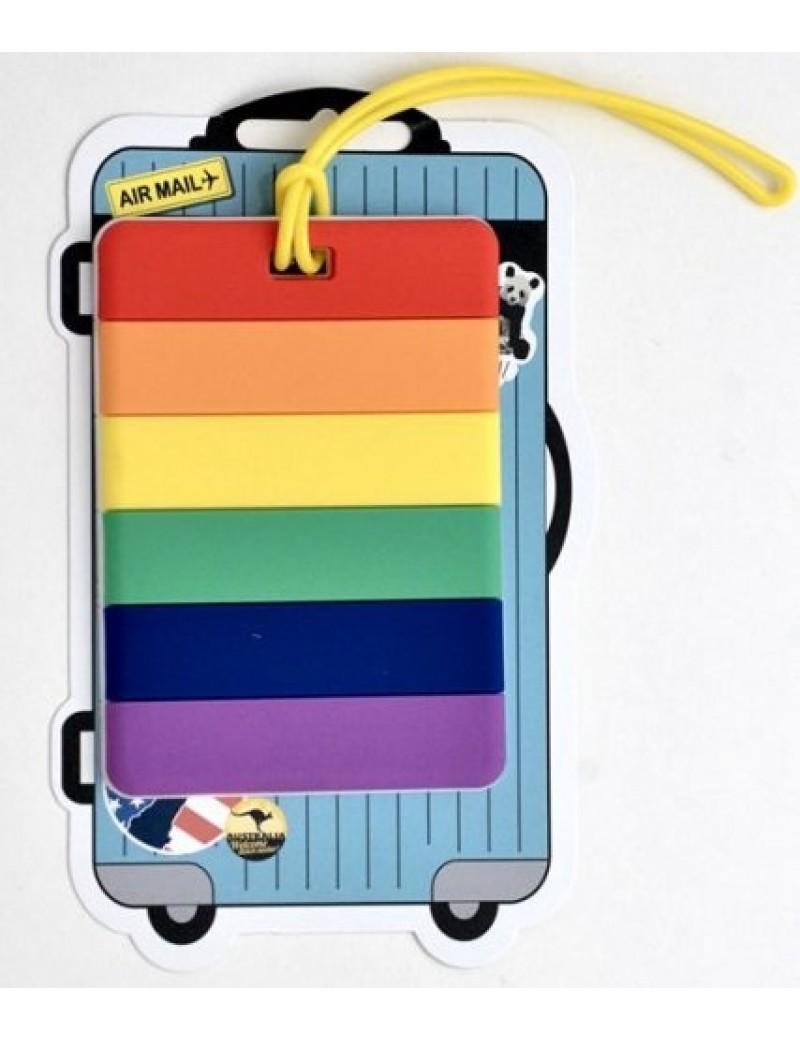 Rainbow Luggage Address Tag