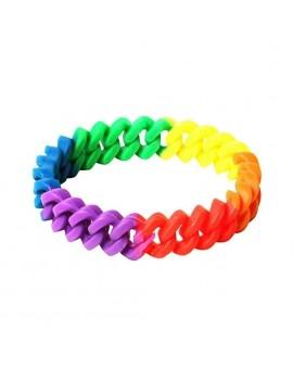 Rainbow Rubber Bracelet