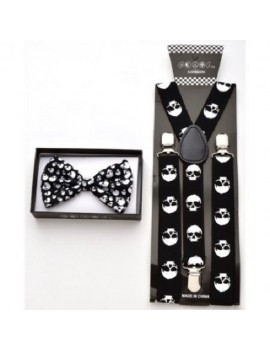 Bow Tie And Braces Set Skulls