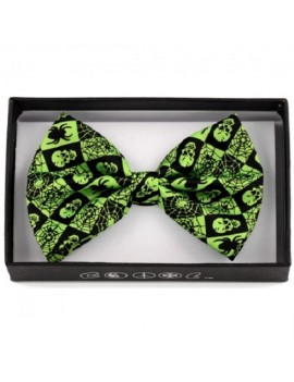 Bow Tie Skull Spiders Green Black