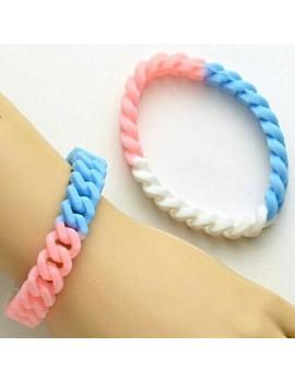 Transgender Rubber Bracelet