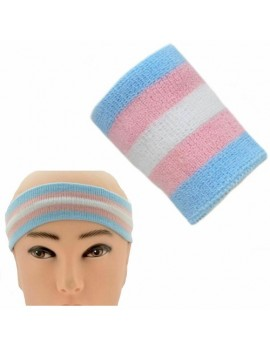 Trans Pride Transgender Sweat Headband And Wristband Set