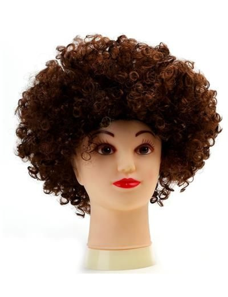 Afro Clown Wig Brown