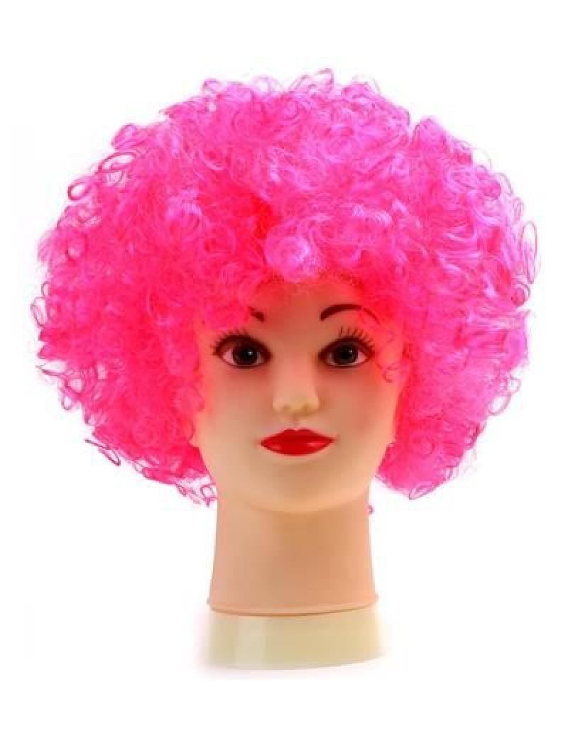 Afro Clown Wig Pink